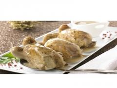 Caille farcie ris de veau et sa sauce foie gras